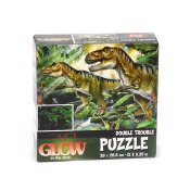 Pussel, dinosaurie motiv, glow in the dark, 100 bitar