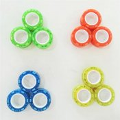 FingerMag Magnetiska Ringar, Transparant Glitter Glow in the dark