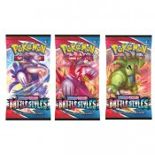 3-pack Pokemon Sword & Shield Battlestyles Booster Samlarkort