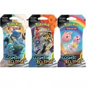 Pokemon 3-pack Sun & Moon Cosmic Eclipse Booster Blister Samlarkort