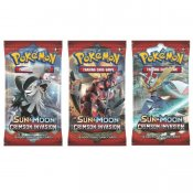 Pokémon Sun & Moon Crimson Invasion Booster samlarkort 3-pack