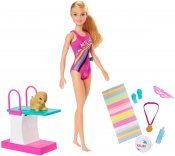 Barbie Dreamhouse Adventures Docka Swim 'n Dive