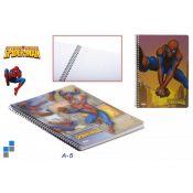 Fin Spiderman notebook A5 på 60 sidor