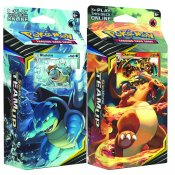 Pokémon Team up Theme deck 2-pack Torrential Cannon och Relentless Flame