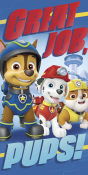 Paw Patrol, Chase, Handduk & Gympapåse
