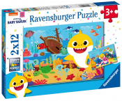 Ravensburger, Baby Shark Pussel 2x12