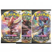 3-pack Pokémon Sword & Shield Rebel Clash Booster samlarkort