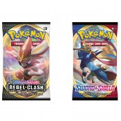 Pokémon 2-pack Sword & Shield 1 och Rebel Clash Booster samlarkort