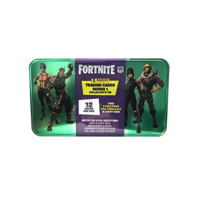 Fortnite Mega Tin 12-pack Booster och 2 Exklusiva samlarkort